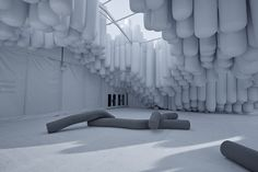 Drift pavilon at Design Miami 2012 by Snarkitecture, Miami exhibit design