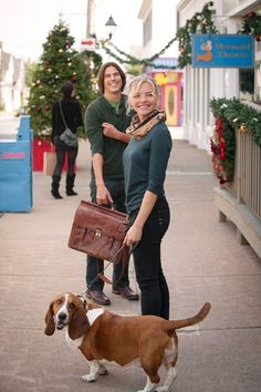 Sean Faris Eloise Mumford Basset Hound Christmas with Holly Hallmark Hall of Fame
