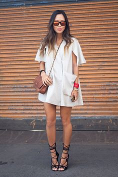 NYFW Day 4 by Songofstyle... I really love the shoes!