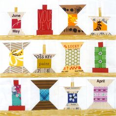 Rainbow Spools Rack - mini quilt for my sewing room wall?