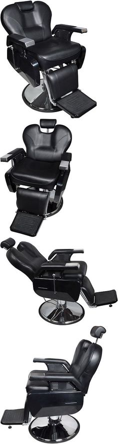 Stylist Stations and Furniture: Black Heavy Duty Fashion Hydraulic Barber Chair Recline Salon Beauty Spa Shampoo -> BUY IT NOW ONLY: $189.95 on eBay!