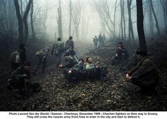 Chechen Rebels move to fight the Russians..