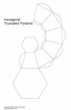 Paper Models of Truncated Pyramids of The Same Height Papiermodelle von Pyramidenstümpfen gleicher Höhe Vase Origami, Origami Paper, Diy Paper, 3d Templates, Vase Deco, Paper Box Template, Paper Vase, Vase Crafts, Concrete Crafts