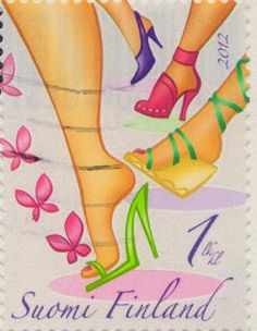 Kisses Blown - a stamp from Finland
