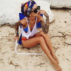 Keep your tattoos protected in the summer sun while you show them off! Put on some sunscreen!