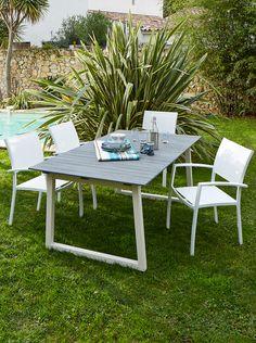 Table de jardin BELLA - Alinéa - Jeu concours Pinterest - A gagner : 500€ en bons d'achat ! Jouez sur : https://www.pinterest.com/alinea/jeu-en-exterieur/