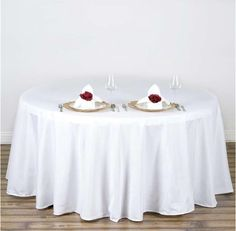 Efavormart Wholesale Round Tablecloth Polyester Round Table Linens for Wedding Party Banquet Restaurant - White Tablecloth Sizes, Tablecloth Fabric, Round Tablecloth, White Tablecloth, Banquet Tablecloths, Banquet Tables, Square Tablecloths, Round Tables, 12 Tables