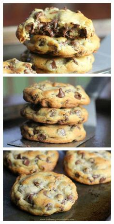 These 'perfect' chocolate chip cookies are completely buttery, chewy, thick and chocked full of rich, semi-sweet chocolate chips. Perfect Chocolate Chip Cookies, Chocolate Cookie Recipes, Semi Sweet Chocolate Chips, Easy Cookie Recipes, Chocolate Chocolate, Chocolate Flavors, Baking Recipes, Dessert Recipes, Chocolate Flapjacks