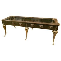 Brass Coffee Table | 1stdibs.com