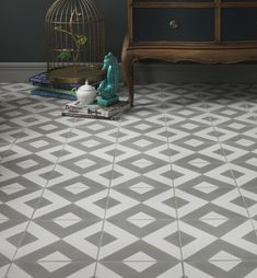 Modern Harlequin is our best selling encaustic tile and will add a subtle touch of pattern and colour into your home. The tiles rhythmic pattern and two-tone colour palette, offer a sophisticated look, perfect for modern interiors. tiles per. Tiled Hallway, Rhythmic Pattern, Harlequin Pattern, Encaustic Tile, Grey Tiles, Style Tile, Handmade Furniture, Tile Patterns, Flooring