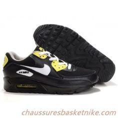 Chaussures Nike Air Max 90 hommes Jaune / Noir / Blanc