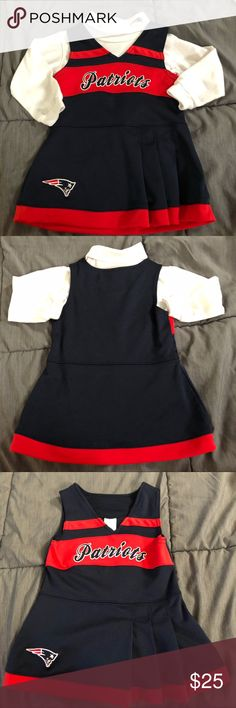 8d3f2c89a477 New England Patriots Cheerleader Outfit - Great Condition Small snag on  main red area  Comes with matching turtleneck onesie. Will ship same next  day.