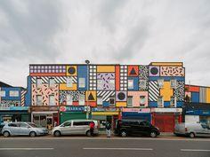 Camille Walala Unveils Public Urban Interventions in London London Street, London Art, East London, Creative Area, Creative Review, Camille Walala, Urban Intervention, How To Make Drawing, London Design Festival