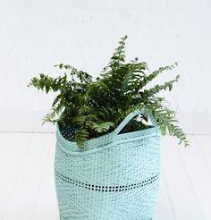 Medium Bamboo Basket Mint