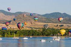 Hot Air Balloon over Chatfield Resevoir, Littleton, Colorado