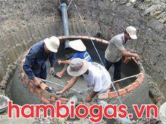 Hầm biogas xây bằng gạch