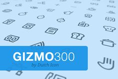 Check out Gizmo Pack 300 by dutchicon.com on Creative Market #icons #icondesign