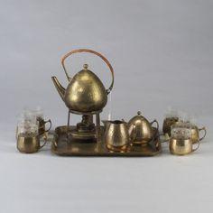 PETER BEHRENS hammeredbrass coffee set