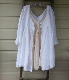 Long Linen Jacket by MegbyDesign on Etsy, $320.00