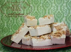 Learn how to make this yummy white chocolate fudge with cashews! It might just be a new family favorite secret recipe! ;) mmm...