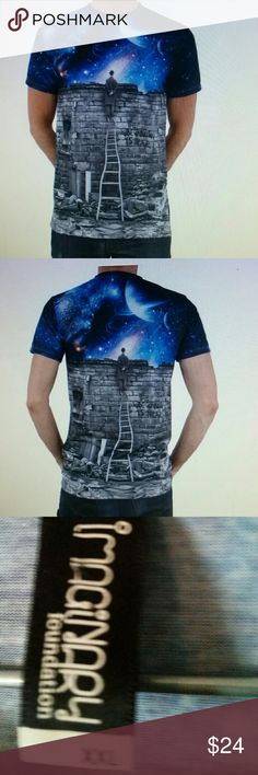 Imaginary foundation tee shirt Sublimated tee shirt printed on super lightweight 100% poly to maximize color and resolution and very soft.  Work of art. imaginary foundation Shirts Tees - Short Sleeve