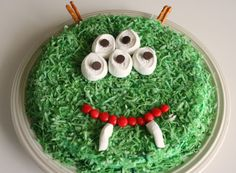 Monster Cake... simple and fun. Children don't need Disney creation-type cakes. They just need to know you love them enough to make something special.  carol