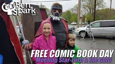 Free Comic Book Day 2017  I took the kids to Free Comic Book Day at Wild Time Comics. I've been taking the kids ever since Eva was 2 years old and dressed as a little princess complete with a magic wand. Now she can read her own comics and Andrew is quickly getting to that point as well.  There was a large presence of the Guardians of the Galaxy at the event and this coincided nicely with me waking up early and going off to watch the movie. I'll have to talk about that more in another video…
