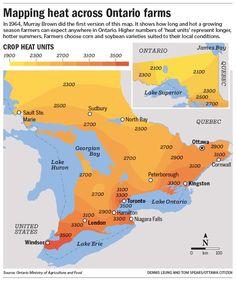 Mapping heat across Ontario farms