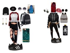 """""""Untitled #7"""" by happy-pand-0 ❤ liked on Polyvore featuring WithChic, adidas, NIKE, Henri Bendel, Spitfire, Nicopanda and Brixton"""