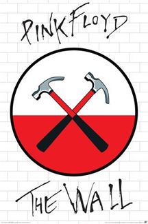Pink Floyd THE WALL Logo Poster (Crossed Hammers)  ~ Available at www.sportsposterwarehouse.com