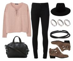 """Sin título #12432"" by vany-alvarado ❤ liked on Polyvore featuring J Brand, Topshop, MANGO, rag & bone, Givenchy and ASOS"
