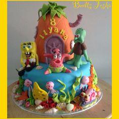 Sponsbob cake