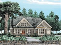 Craftsman House Plan with 2619 Square Feet and 4 Bedrooms from Dream Home Source | House Plan Code DHSW38735
