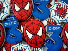 Cool Spiderman cookies from Sweet Sugarbelle