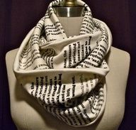 """Book scarf. Have any page from your favorite book or poem printed on a scarf here. I would totally do this."""" data-componentType=""""MODAL_PIN"""