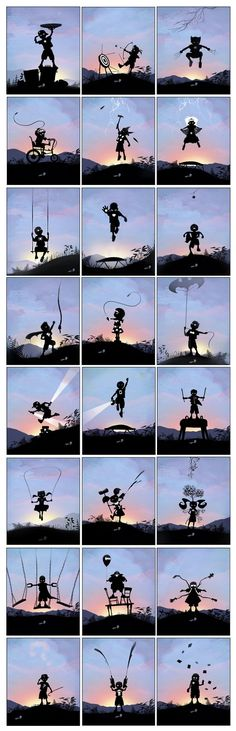 When I Grow Up I Want To Be. - Beautiful Silhouette / Noir style Illustrations by Andy Fairhurst Marvel Dc Comics, Marvel Heroes, Marvel Avengers, Avengers Fan Art, Marvel Fan Art, Comic Manga, Comic Art, Comic Books, Geek Culture