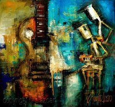 Original Custom Painting - Modern Abstract Art by SLAZO - 36x36 - Made To Order