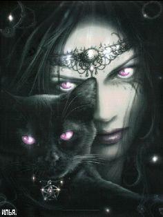 Девушка с котом - анимация на телефон №1042356