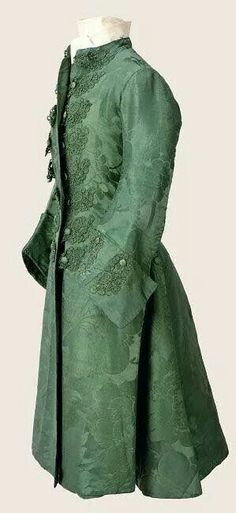 Green silk banyon circa 1760