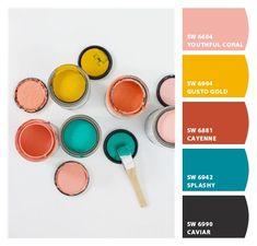 ColorSnap by Sherwin-Williams – ColorSnap by anacuvo Create Color Palette, Colour Pallette, Colour Schemes, Color Combos, Bright Paint Colors, Colours, Pantone, Color Plan, Pallet Painting