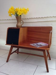 mad men mid century 60s retro telephone table and black faux leather seat bench from ebay. Black Bedroom Furniture Sets. Home Design Ideas