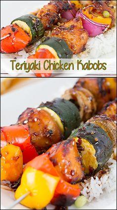 Teriyaki Chicken Kabobs  www.joyineverysea...