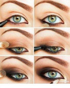 Maquillaje de Ojos Ahumado en Negro y Marrón