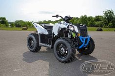 New 2016 Polaris Scrambler 850 White Lightning ATVs For Sale in Wisconsin.