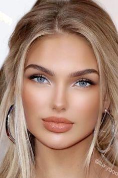 Beautiful Women Pictures, Beautiful Girl Image, Gorgeous Women, Most Beautiful Eyes, Braut Make-up, Good Looking Women, Gorgeous Blonde, Cute Beauty, Blonde Beauty