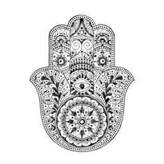 Hamsa temporary tattoo por stayathomegypsyshop en Etsy, $9,50