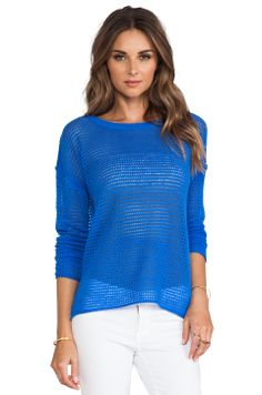 360 Sweater Sybil Cashmere Sweater in Electric Blue from REVOLVEclothing