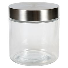 View Glass Jars with Stainless Steel Dollar Tree Store, Glass Jars, Stainless Steel, Canning, Glass Pitchers, Home Canning, Glass Bottles, Conservation
