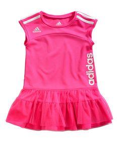 This Pink Twist Dress - Girls by adidas is perfect! #zulilyfinds