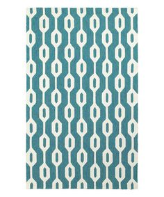 Another great find on #zulily! Blue & Ivory Mod Geometric Rug #zulilyfinds
